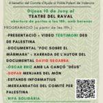Ca Saforaui recapta 672 € per al poble palestí en una jornada solidària al Teatre del Raval