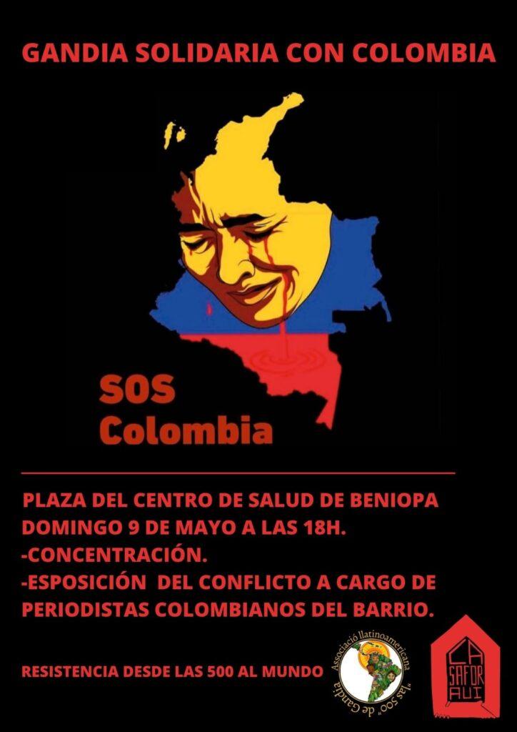 gandia solidaria amb colombia